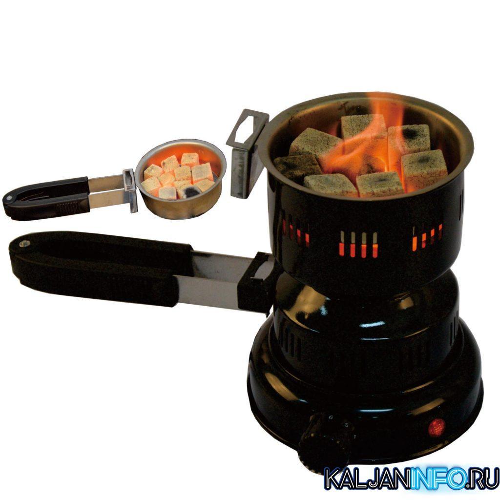 Щипцы, фиксатор для углей и сама плита для розжига углей.