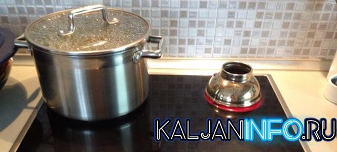 Как разогреть угли для кальяна на керамической плите.