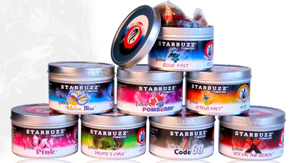 Тут изображена табачная смесь Starbuzz (Старбаз).