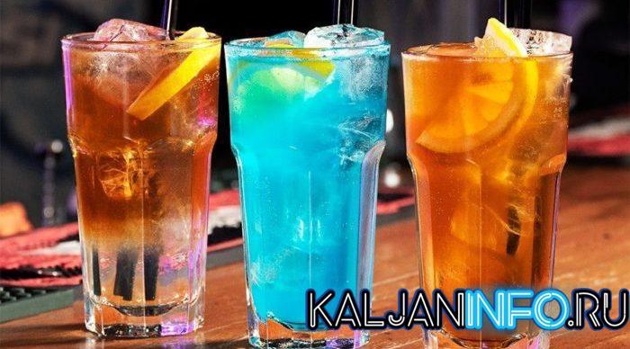 3 вида коктейля Лонг Айленд.