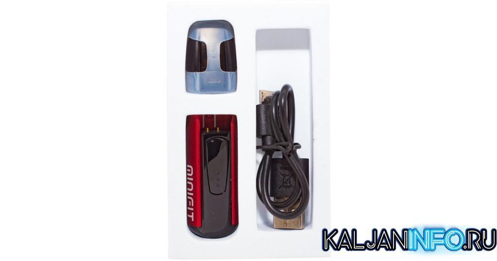 Комплект минифита с картриджем и зарядкой